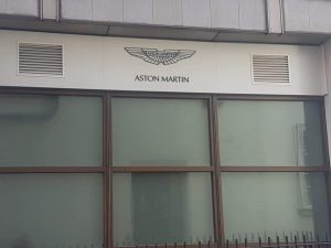 Another commercial job supply and installed 19.5 toughened/ laminated safety glass to Aston Martins showroom Park Lane London
